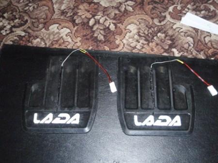 LED подсветка на брызговики ВАЗ (14)