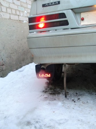 LED подсветка на брызговики ВАЗ (17)