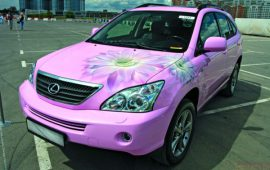pink car tuning for girls